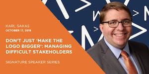 October Signature Speaker Series: Managing Difficult...