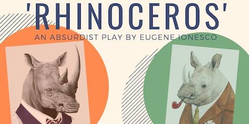Eugene Ionesco's absurdist play, 'Rhinoceros'