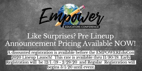 EMPOWER Educators Conference 2020 tickets