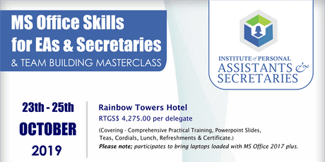 Become Certified just after 3 Days - Microsoft Office Masterclass for PAs tickets