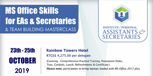 Become Certified just after 3 Days - Microsoft Office Masterclass for PAs