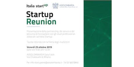 Startup Reunion | corso di formazione & tavolo degli investitori biglietti