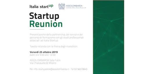 Startup Reunion | corso di formazione & tavolo degli investitori