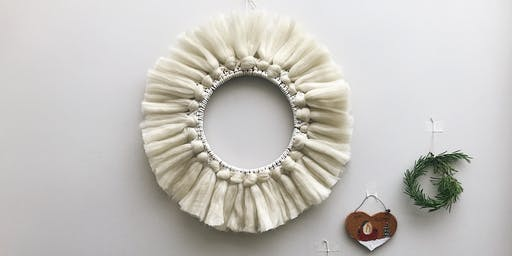 Macrame Christmas Wreath @Alresford Linen