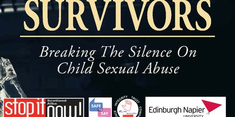 """Survivors: Breaking Silence on Child Sexual Abuse"": Book Reading & Discussion at Edinburgh Napier University tickets"