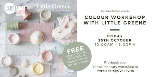 Little Greene Colour Workshops at Cane Adam Farnham