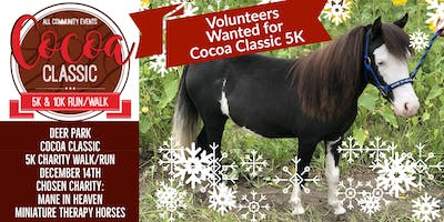 Volunteer with 2019 Chosen Charity: Mane in Heaven for Hot Cocoa 5K