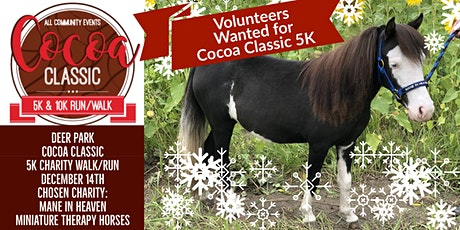 Volunteer with 2019 Chosen Charity: Mane in Heaven for Hot Cocoa 5K tickets