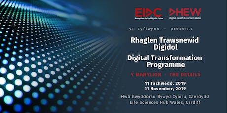 Rhaglen Trawsnewid Digidol | Digital Transformation Programme tickets