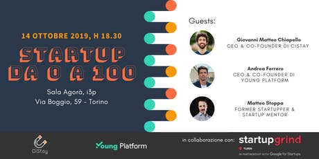 Startup da 0 a100: come partire, crescere ed imporsi sul mercato biglietti