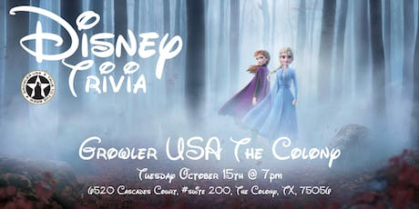 Disney Movie Trivia at Growler USA The Colony tickets