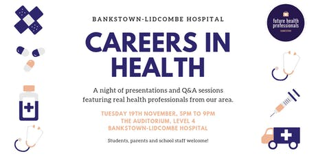 Bankstown's Careers in Health Night tickets