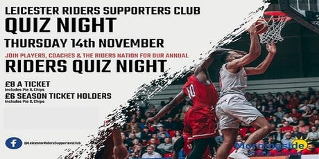 Leicester Riders Supporters Club Quiz Night tickets
