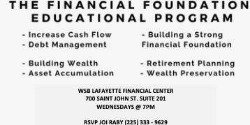 FREE Financial Planning Workshops