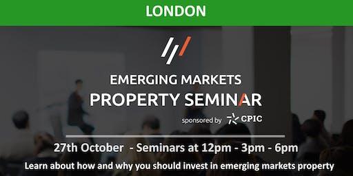 London: EMERGING MARKETS PROPERTY SEMINAR - 27th Oct 2019