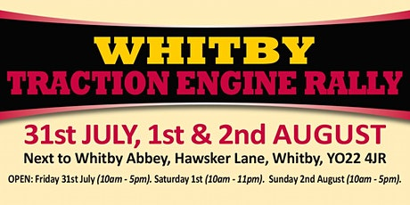 Whitby Traction Engine Rally 2020 (Buy Trading Space) tickets