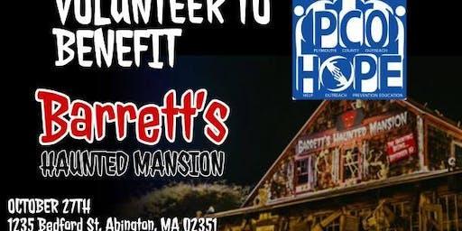 Fundraiser Event at Barrett's Haunted Mansion