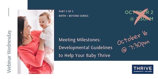 Webinar - Meeting Milestones: Developmental Guidelines to Help Baby Thrive