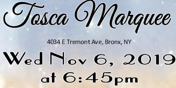 November 6th FREE BRIDAL SHOW at TOSCA MARQUEE in Bronx, NY
