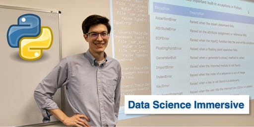 Data Science Immersive • 1 Week Python for Data Science Bootcamp