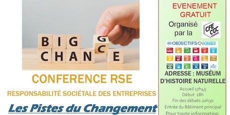 Conférence RSE les pistes du changement billets