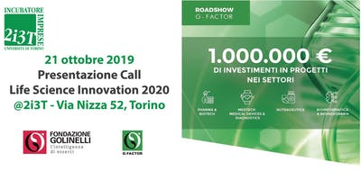 Presentazione Call Life Science Innovation 2020  @2i3T