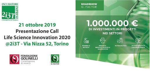 Presentazione Call Life Science Innovation 2020  @2i3T