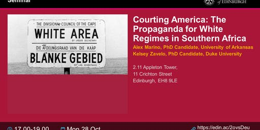 Courting America: The Propaganda for White Regimes in Southern Africa