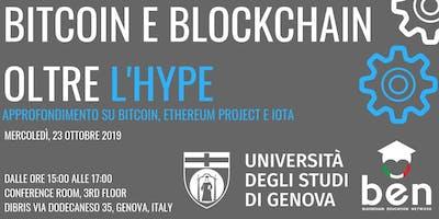 """""""Bitcoin e Blockchain oltre l'Hype"""" - Università di Genova"""