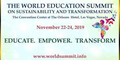 World Education Summit on Sustainability and Transformation