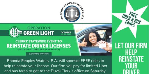 Operation Green Light: Let Us Help to Reinstate Your Drivers License Event