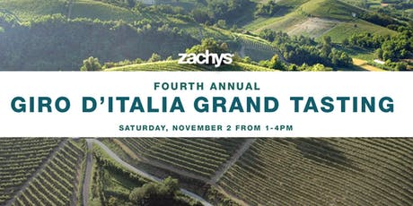 Zachys' Annual Giro D'Italia Grand Tasting: 12 Estates Piedmont to Sicily tickets