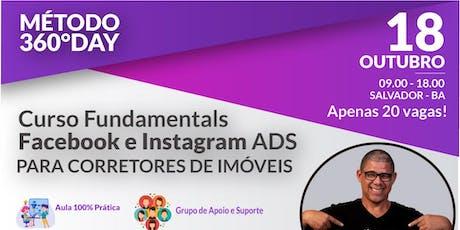 Curso  Facebook + Instagram para Corretores de Imóveis - Salvador - BA ingressos