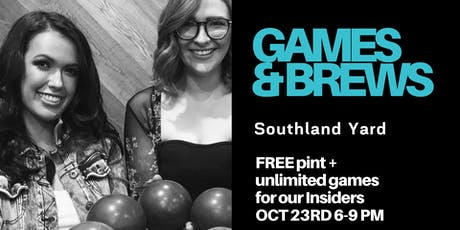 Insiders Games & Brews at Southland Yard tickets