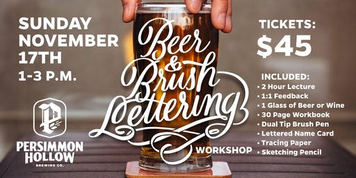 Beer and Lettering Workshop