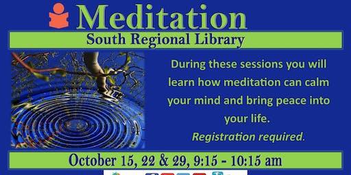 Meditation at South Regional Library