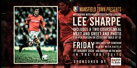 An Evening With Former Manchester United Player Lee Sharpe tickets