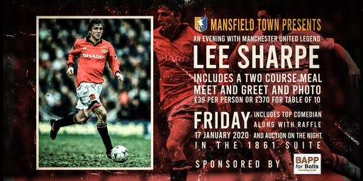 An Evening With Former Manchester United Player Lee Sharpe