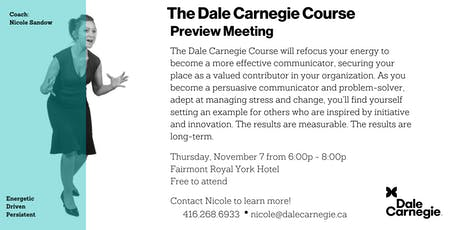 Dale Carnegie Course® - Preview Meeting (Toronto) tickets