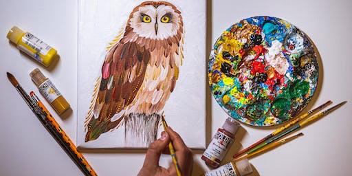 Painting Workshop - Owls - Oct 27, Redmond WA