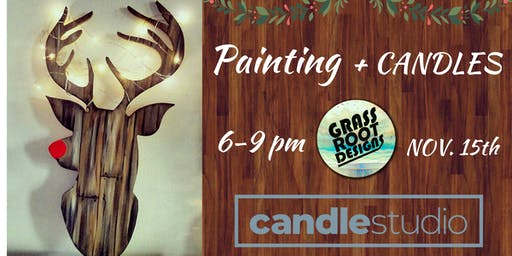 Light Up Rudolf Painting + Candle Making!