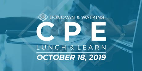 DonWat Houston *Complimentary* CPE October Lunch & Learn tickets