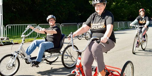 Big Bike Revival Celebration Ride in Birkenhead Park - family friendly