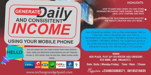 Recharge And Get Paid Telecom Live Seminar