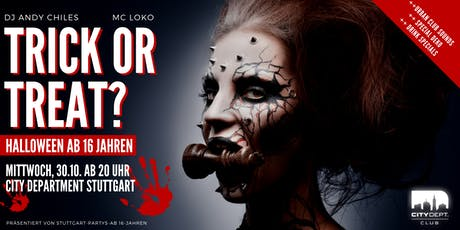 Trick or Treat? – Halloween ab 16 Jahren Tickets