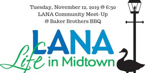 LANA November Neighborhood Meet-up @  Baker Brothers BBQ