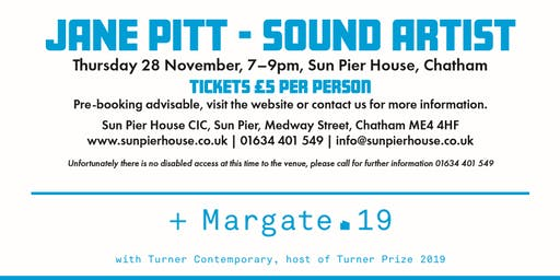 Artist Talk at Sun Pier House: Jane Pitt, Sound Artist