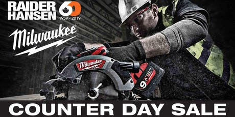 Milwaukee Counter Day Sale tickets