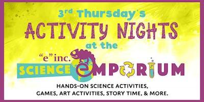 """3rd Thursdays @ """"e""""inc.'s Science Emporium - Power of Flight"""