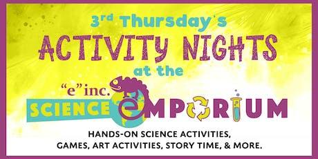 "3rd Thursdays @ ""e""inc.'s Science Emporium - Endangered Animals tickets"
